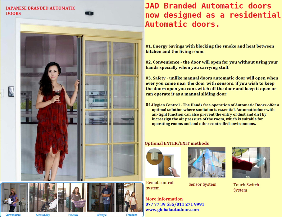 Automatic doors for residencies/ homes